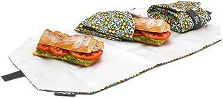 Roll'eat - Boc'n'Roll Tiles Bolsa Merienda Porta Bocadillos Ecológica y Reutilizable sin BPA, Gotic