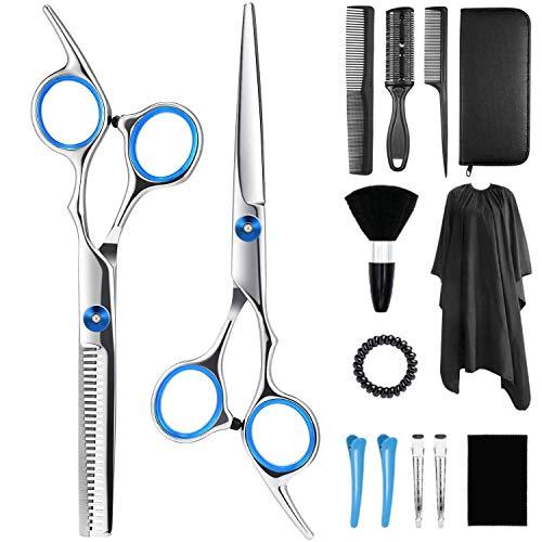 SupcuteJuego de 14 tijeras de corte de pelo para mujeres y hombres, , ,  Azul,, ]