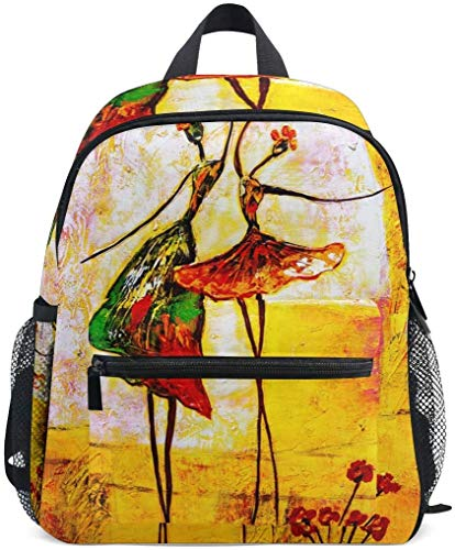 NB UUD Mini Backpack Oil Painting Ballet Daily Backpack for Travel