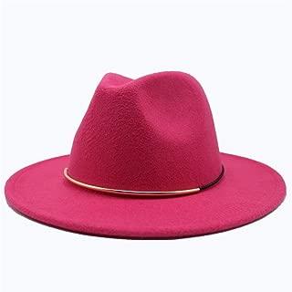Hat Adult Hat Size 56-58CM Fashion Men Women Wool Fedora Hat Travel Church Casual Hat Wide Brim Fascinator Hat Fashion Hat