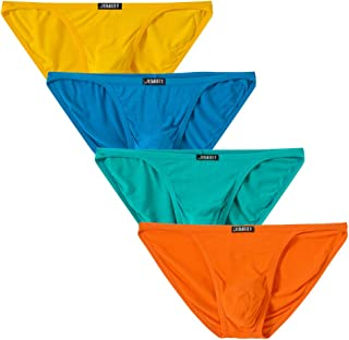 Mens Bikini Briefs Low Rise Underwear Breathable Comfortable Bamboo Briefs (Colors May Vary)