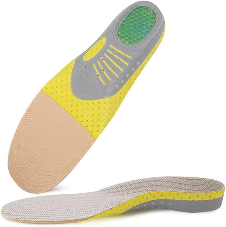 Plantillas de Soporte de Arco de pie Plano de Corte Libre, Plantillas para Fascitis Plantar - Ortesis de Soporte de Arco de pie - Inserciones de Zapatos de Espuma Firme