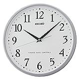 Seiko Unisex Reloj de Pared, Plástico, Plateado QXR210S