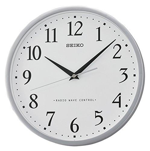 Seiko Funkwanduhr weiß Kunststoff QXR210S