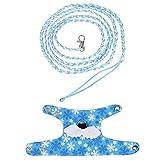 Fdit Ropa Ardilla Mascota Chaleco de Arneses Chaleco de la Historieta con Correa de Plomo para Caminar Ferret Chinchilla Ardilla de Pequeños Animales () Azul Claro