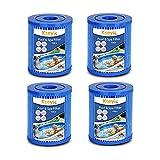 Kseyic Filtro de piscina para Bestway Tipo 2, cartucho filtro de piscina, filtros de cartuchos de filtro para piscina Bestway Tipo II, elemento filtrante antibacteriano (4 unidades)