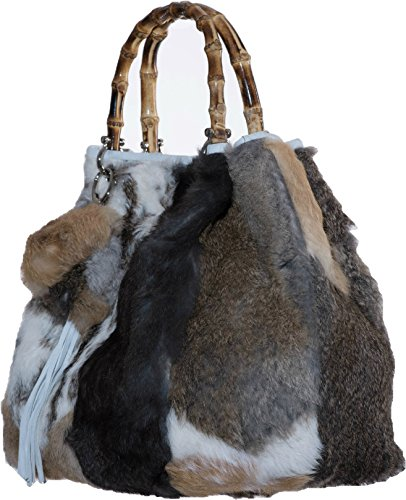 FONTEVIVO Fashions - Fourrure De Lapin De Patchwork De Sac