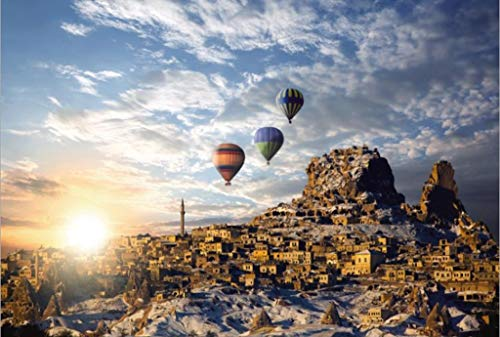 JXXU Viaggi di Hot Air Balloon-Puzzle in Legno for Adulti Bambini 1000 Pezzo di Puzzle Giochi Giocattoli