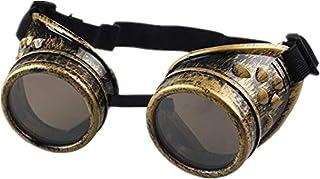 DAY.LIN Sonnenbrille Damen Herren Vintage Style Steampunk Brille Schweißen Punk Gothic Brille Cosplay