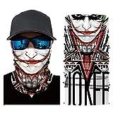 Multifunktionstuch Herren Sport, Damen Männer Horror Clown Joker Haha 3D Druck Motorrad Face Shield...