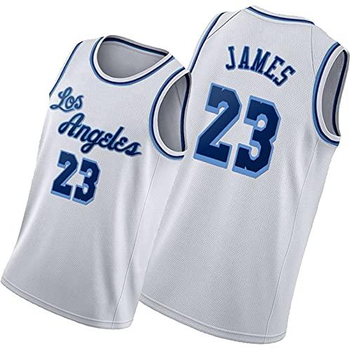 DSWF Jmas 23# lãkẽr Camiseta de Baloncesto de los Hombres con un Traje sin Mangas, Ropa Deportiva, Joven, Transpirable, Uniforme de Secado rápido de Verano L