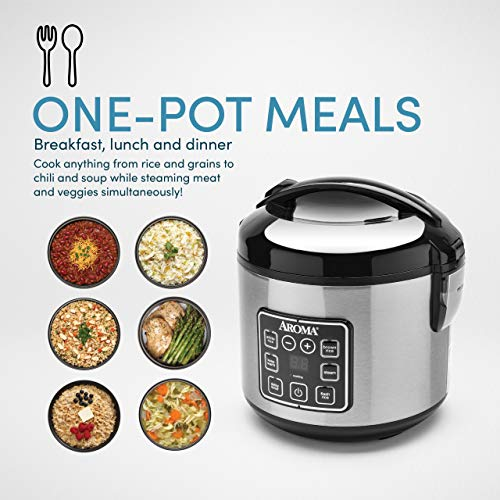 Product Image 2: Aroma Housewares 8-Cup (cooked)/ 2 Quart Digital Cool-Touch Rice Cooker & Food Steamer