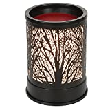 Foromans Wax Melts Candle Warmer Classic Black Metal Forest Design Fragrance Oil...