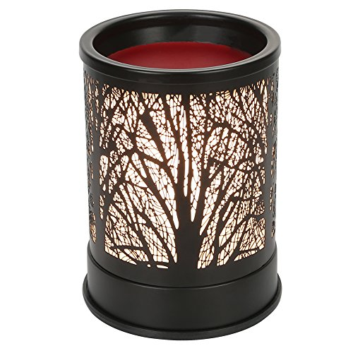 Foromans Wax Melts Kerzenwärmer Classic Black Metal Forest Design Duftölwärmer Lampe für Home DÃcor