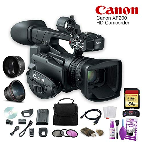 Review Canon XF200 HD Camcorder (9593B002) W/ 64GB Memory Card, Bag, Lens Filters, Cleaning Kit, and...