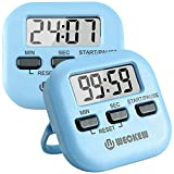 Kitchen Timer, WECKEW 2 Pack Digital Kitchen Timer Magnetic Countdown Stopwatch Timer