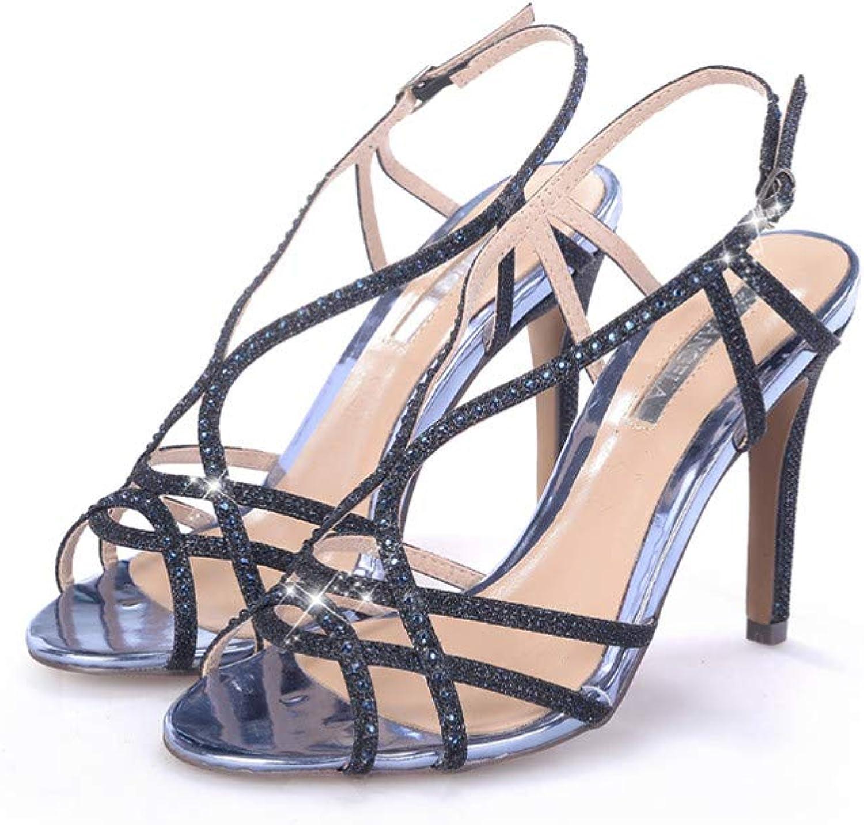 XJLE High Heel Stiletto Sweet and Versatile Fashion Sandals Temperament Ladies