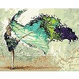 Pintura de animales por números, juego de paisaje, pintura acrílica, kits de bricolaje para adultos, imágenes, dibujo, lienzo, decoración para colorear W1 50x65cm