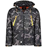 Geographical Norway Tambour Chaqueta Softshell Hombre - Negro/Naranja, S