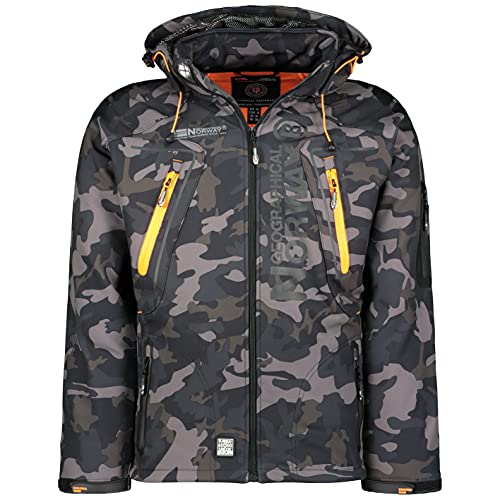 Geographical Norway Tambour Chaqueta Softshell Hombre - Negro/Naranja, L