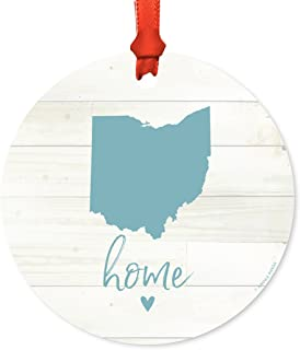 LifeSong Milestones Home is Where The Heart is Ohio State Gifts Family Established with Last Name Dark Distressed unfilled Ohio First Names and Date Established 12x 15