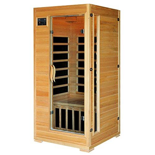 HEATWAVE BSA2402 1-2 Person Hemlock Carbon Infrared Sauna