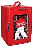 Coca-Cola Beverage Display Mini Fridge, 28 Can Thermoelectric Cooler/Warmer, 25 L/26 Quarts Capacity, 12V DC/110V AC for home, dorm, car, boat, beverages, snacks, skincare, cosmetics, medication