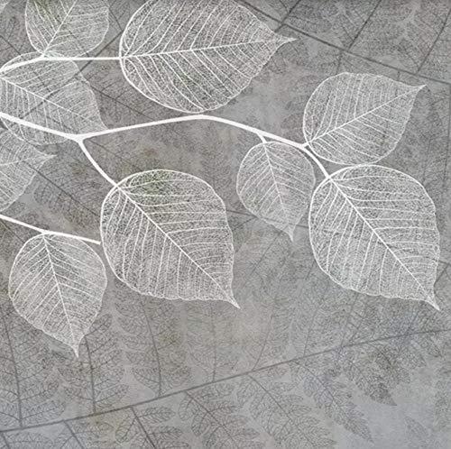 Fototapete Nordische moderne Hand gezeichnete Aschenblätter Moderne Wanddeko Design Tapete Wandtapete Wand Dekoratio TV Hintergrundwand 250x175 cm
