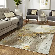 Mohawk Home Gold Vein Grey Area Rug, 6'x9'