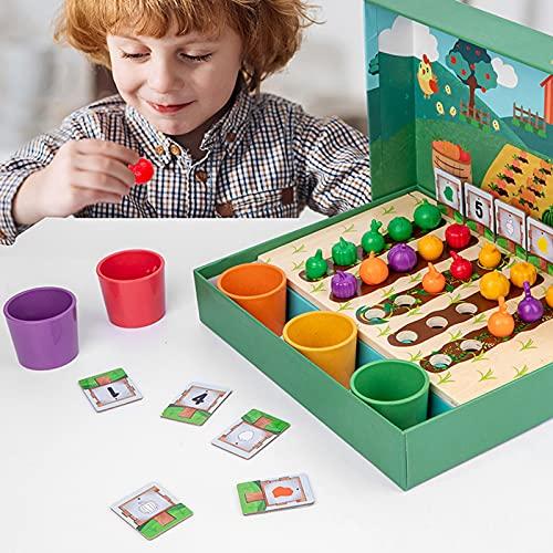 LEFUYAN Simulação de cultura de frutas e vegetais de fazenda, Learning Resources Conjunto de classificação de cores do mercado de fazenda, brinquedos de Páscoa, presentes de Páscoa para crianças