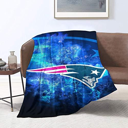 Manta de forro polar Sherpa de New-England-Pat-riots con diseño de equipo de fútbol americano de tamaño doble, manta de felpa para sofá, cama individual (127 x 101,6 cm)