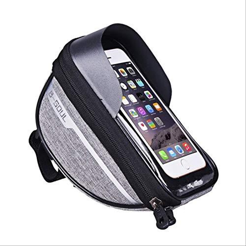 Bolsa De Marco De Bicicleta, Accesorios Impermeables Para Bicicletas Con Estuche De Pantalla Táctil, Bolsa De Teléfono De Bicicleta De Gran Capacidad Con Visera Para Teléfonos Iphone Samsung Y Android
