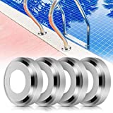 Blasoul Pool Ladder Escutcheon - 4Pack 1.9' Inner Diameter Stainless Steel Escutcheons Plates Only Fits for 1.85' Inner Diameter Tubing Pool Handrail, Handrail Covers for Tubing Pool