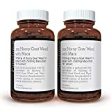 10X Horny Goat Weed Extract (3750mg) Maca Extract (2500mg) x 360 Tablets - (2 Bottles of 180 Tablets) with 5mg Black Pepper Extract for 300% Increased Absorption: SKU: HGWMx2