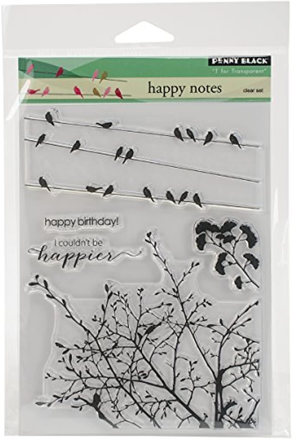 Penny schwarz Happy Notes Clear Stamps Sheet, 5 x 6.5 by Penny schwarz B01KB77E5K | Überlegen