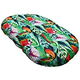 Croci Cuscino Ovale per Cani e Gatti Esotica, Mobido, Utilizzabile su Entrambi i Lati, Fantasia Arredo Jungle Style 53X35 Cm