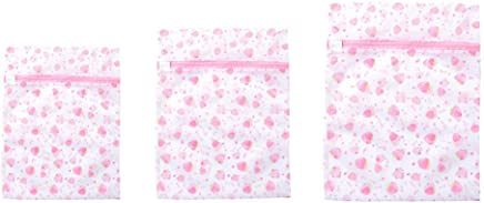 BSTOPSEL Pcs Mesh Laundry Bags with Zipper Travel Storage Organize Bag Clothing Washing Bags for Laundry Blouse Bra Stocking Underwear
