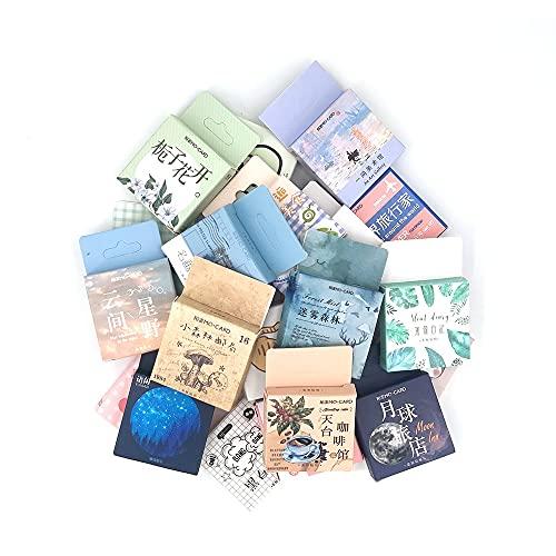 PMSMT 1 Caja de Pegatinas de papelería Bonitas, Diario de álbum de Recortes, Pegatinas de Plantas de café Kawaii, Pegatinas Decorativas Vintage DIY, Material Escolar