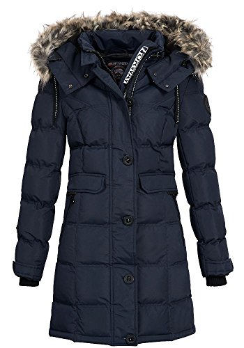 Geographical Norway Damen Jacke Steppmantel Cala Navy S