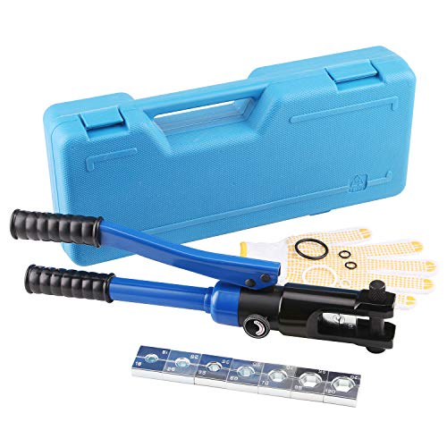LICHAMP Hydraulic Cable Lug Tool, 6 AWG to 4 0 AWG Battery Cable Crimping Tool WIRE Terminal Crimper Set, 1202BL