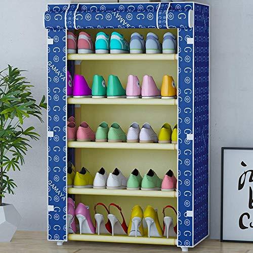 M-YN Zapatero 5 Niveles apilables Ahorro de Espacio No Tejido Tejido Zapato de Almacenamiento Organizador Gabinete Torre for 20 Pares de Zapatos (Color : C)