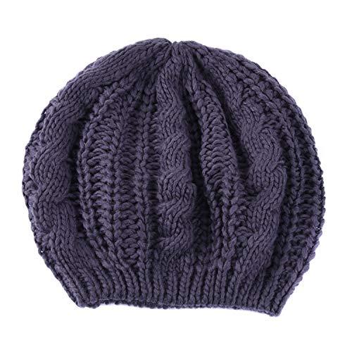 TININNA Invierno Cálido trenzado de punto Baggy Boina Chunky Beanie sombrero Baggy Boina trenzado gorro de ganchillo para las mujeres niñas