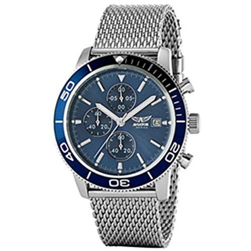 Aviator - - All - Silver Men Watches - Default Title