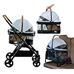Pet Gear View 360 Pet Stroller Travel System 3-in-1 Carrier, Booster Seat and Stroller with Push Button Entry, Silver Pearl (PG8140NZSP) 14