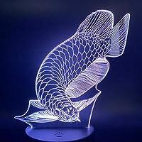 3D LED錯視ランプ ランプラブリーフィッシュナイトライトキッズ用ギフトリビングルームアニマルランプナイトライトキッズ用ギフト装飾用ナイトライト