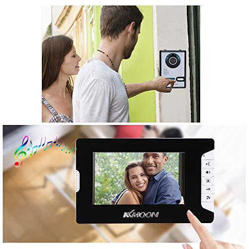 KKmoon Visiophone Interphone Sonnette,7' Porte vidéo TFT LCD écran téléphone débloquer IR Night...