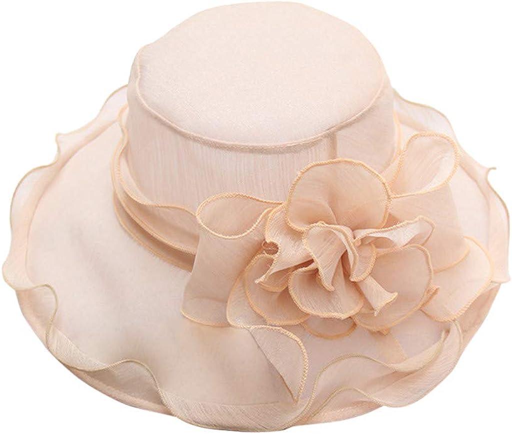 Womens Ladies Church Wide Brim Tea Party Wedding Hat Fancy Derby Fascinator CapWinter Hats,Sun Protection Hats