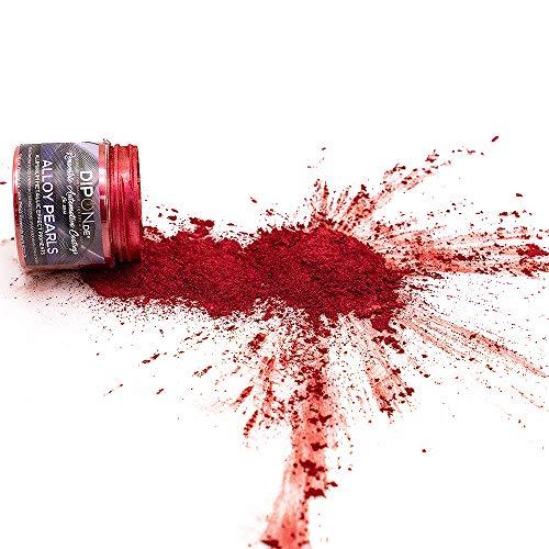 KandyDip Effektpigment Carbon RED Aluminium Pearl Perlglanz Metallic Farbpulver Pigment für Epoxidharz Autolack Sprühfolie Aquarell Seife Powder (5 Gramm)