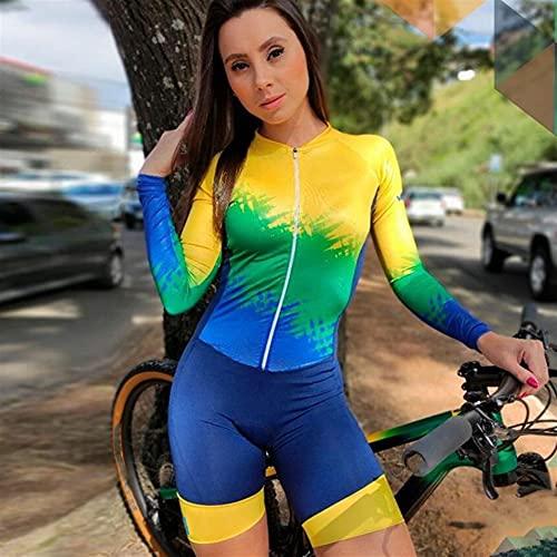 Ensemble de maillot de cyclisme pour femme Triathlon Combinaison à manches longues Combinaison de...