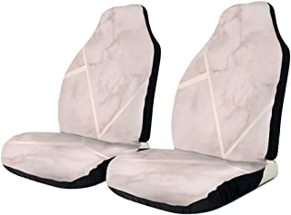 Car Seat Covers Rose Gold Marble Elastic Saddle Blanket With Seat Universal Car Seat Accessories,